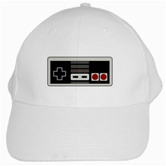 Video Game Controller 80s White Cap
