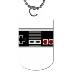 Video Game Controller 80s Dog Tag (one Side)