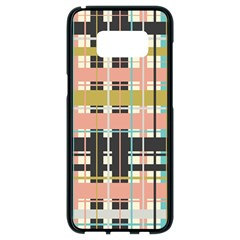 Plaid Pattern Samsung Galaxy S8 Black Seamless Case by linceazul