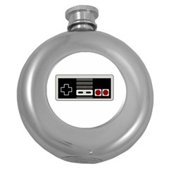 Video Game Controller 80s Round Hip Flask (5 Oz) by Valentinaart