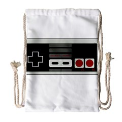 Video Game Controller 80s Drawstring Bag (large)