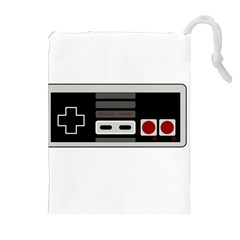 Video Game Controller 80s Drawstring Pouches (extra Large) by Valentinaart
