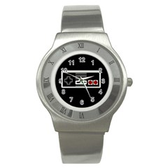 Video Game Controller 80s Stainless Steel Watch