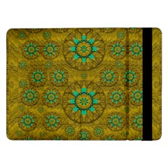 Sunshine And Flowers In Life Pop Art Samsung Galaxy Tab Pro 12 2  Flip Case by pepitasart