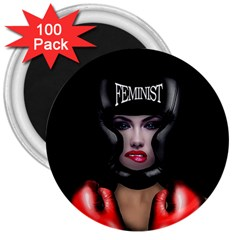 Feminist 3  Magnets (100 Pack) by Valentinaart