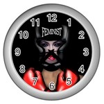 Feminist Wall Clocks (Silver)  Front