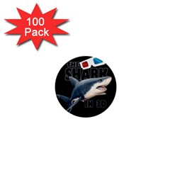 The Shark Movie 1  Mini Buttons (100 Pack)  by Valentinaart