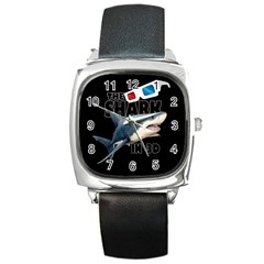 The Shark Movie Square Metal Watch by Valentinaart