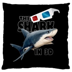 The Shark Movie Large Flano Cushion Case (one Side) by Valentinaart