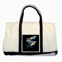 The Shark Movie Two Tone Tote Bag by Valentinaart