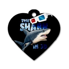 The Shark Movie Dog Tag Heart (one Side)