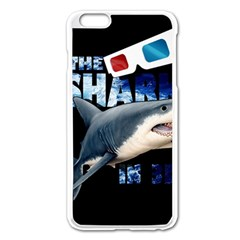 The Shark Movie Apple Iphone 6 Plus/6s Plus Enamel White Case by Valentinaart