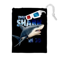 The Shark Movie Drawstring Pouches (extra Large) by Valentinaart