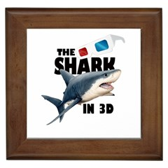 The Shark Movie Framed Tiles by Valentinaart