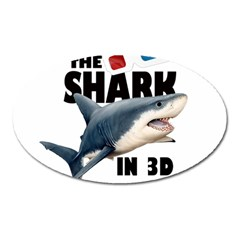 The Shark Movie Oval Magnet