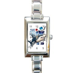 The Shark Movie Rectangle Italian Charm Watch by Valentinaart
