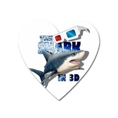 The Shark Movie Heart Magnet by Valentinaart