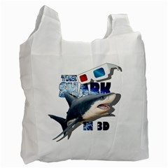 The Shark Movie Recycle Bag (two Side)  by Valentinaart