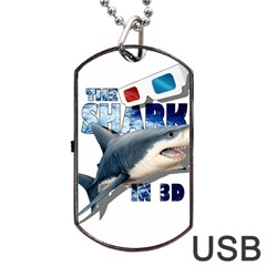 The Shark Movie Dog Tag Usb Flash (one Side) by Valentinaart
