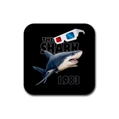 The Shark Movie Rubber Square Coaster (4 Pack)  by Valentinaart