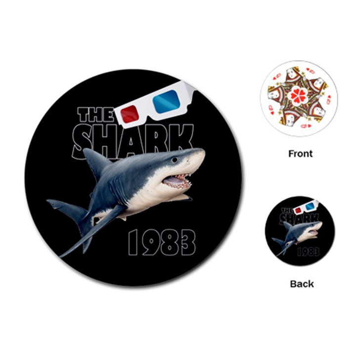 The Shark Movie Playing Cards (Round)