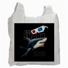 The Shark Movie Recycle Bag (one Side) by Valentinaart