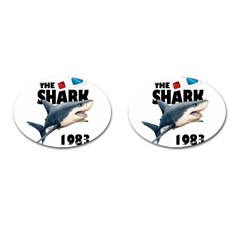 The Shark Movie Cufflinks (oval) by Valentinaart