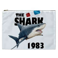 The Shark Movie Cosmetic Bag (xxl)  by Valentinaart