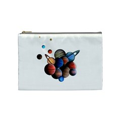 Planets  Cosmetic Bag (medium)  by Valentinaart
