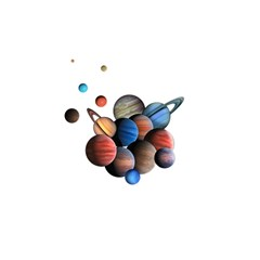 Planets  Shower Curtain 48  X 72  (small)