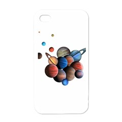 Planets  Apple Iphone 4 Case (white)