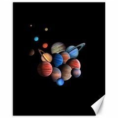 Planets  Canvas 11  X 14   by Valentinaart