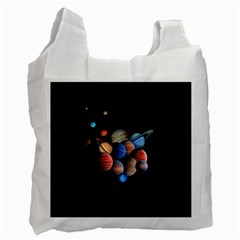 Planets  Recycle Bag (one Side) by Valentinaart