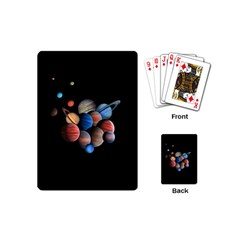 Planets  Playing Cards (mini)  by Valentinaart