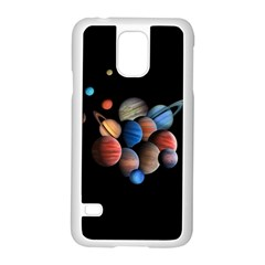 Planets  Samsung Galaxy S5 Case (white)