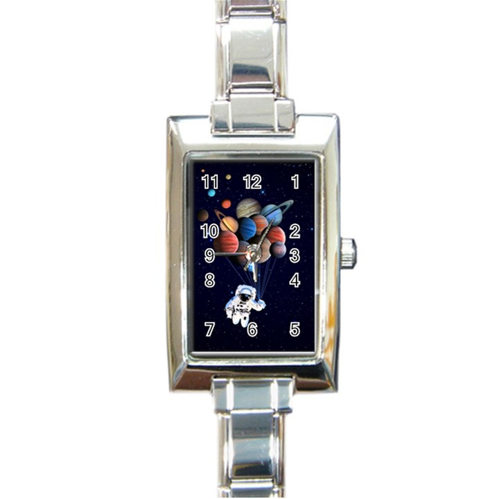 Planets  Rectangle Italian Charm Watch