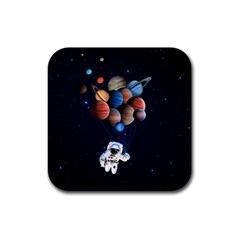 Planets  Rubber Square Coaster (4 Pack)  by Valentinaart