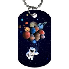 Planets  Dog Tag (two Sides) by Valentinaart