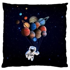 Planets  Large Flano Cushion Case (one Side) by Valentinaart