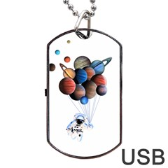 Planets  Dog Tag Usb Flash (one Side) by Valentinaart