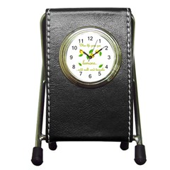 When Life Gives You Lemons Pen Holder Desk Clocks