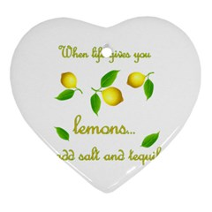 When Life Gives You Lemons Heart Ornament (two Sides) by Valentinaart
