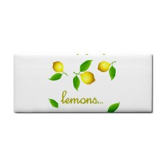 When Life Gives You Lemons Cosmetic Storage Cases by Valentinaart