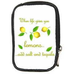 When Life Gives You Lemons Compact Camera Cases by Valentinaart