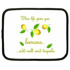 When Life Gives You Lemons Netbook Case (xxl)  by Valentinaart