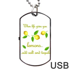 When Life Gives You Lemons Dog Tag Usb Flash (one Side)