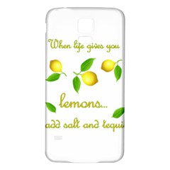 When Life Gives You Lemons Samsung Galaxy S5 Back Case (white)