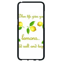 When Life Gives You Lemons Samsung Galaxy S8 Black Seamless Case