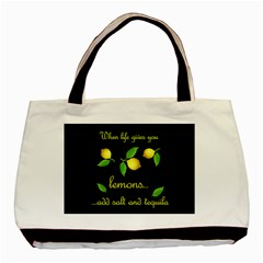 When Life Gives You Lemons Basic Tote Bag (two Sides) by Valentinaart