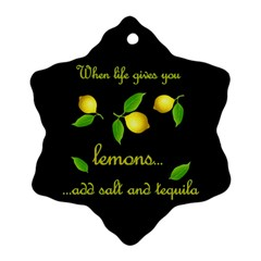 When Life Gives You Lemons Snowflake Ornament (two Sides) by Valentinaart